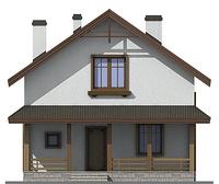 Проект кирпичного дома 72-46 фасад