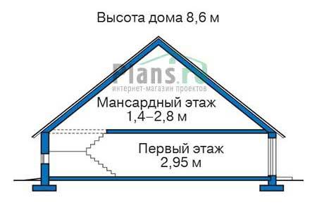 Проект кирпичного дома 72-46 план