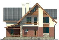 Проект кирпичного дома 72-48 фасад