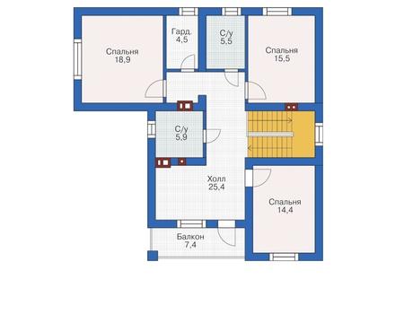 Проект кирпичного дома 72-48 план
