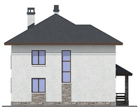 Проект кирпичного дома 72-49 фасад