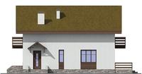 Проект кирпичного дома 72-50 фасад