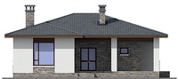 Проект кирпичного дома 72-51 фасад
