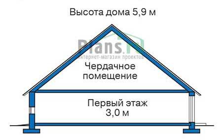 Проект кирпичного дома 72-51 план