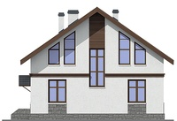 Проект кирпичного дома 72-53 фасад
