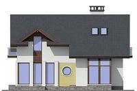 Проект кирпичного дома 72-54 фасад