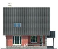 Проект кирпичного дома 72-56 фасад