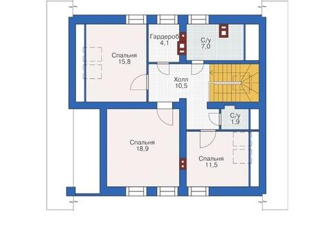 Проект кирпичного дома 72-56 план