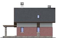 Проект кирпичного дома 72-57 фасад