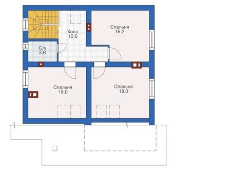 Проект кирпичного дома 72-57 план