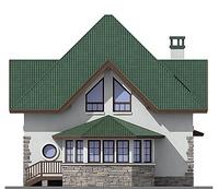 Проект кирпичного дома 72-58 фасад