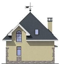 Проект кирпичного дома 72-59 фасад