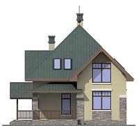 Проект кирпичного дома 72-60 фасад