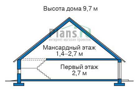 Проект кирпичного дома 72-60 план