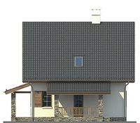 Проект кирпичного дома 72-62 фасад