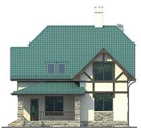 Проект кирпичного дома 72-63 фасад