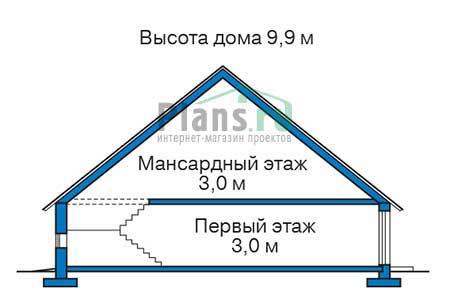 Проект кирпичного дома 72-63 план