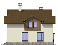Проект кирпичного дома 72-64 фасад