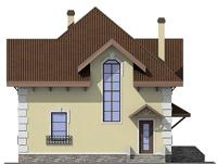 Проект кирпичного дома 72-65 фасад