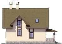 Проект кирпичного дома 72-66 фасад