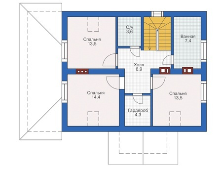 Проект кирпичного дома 72-66 план