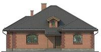 Проект кирпичного дома 72-67 фасад