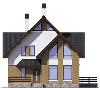 Проект кирпичного дома 72-68 фасад