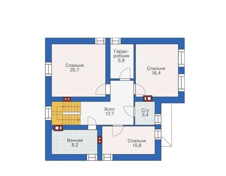 Проект кирпичного дома 72-68 план