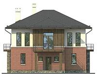 Проект кирпичного дома 72-69 фасад