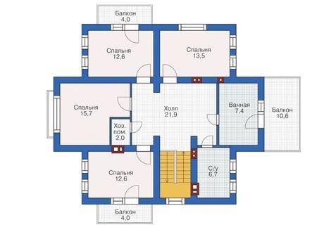 Проект кирпичного дома 72-69 план