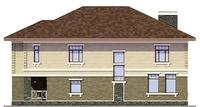 Проект кирпичного дома 72-71 фасад