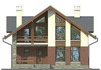 Проект кирпичного дома 72-72 фасад