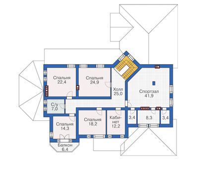 Проект кирпичного дома 72-73 план