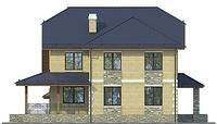 Проект кирпичного дома 72-74 фасад