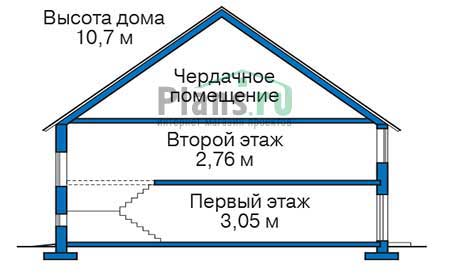 Проект кирпичного дома 72-74 план