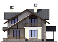Проект кирпичного дома 72-75 фасад