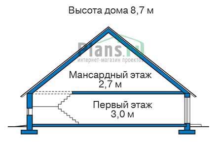 Проект кирпичного дома 72-75 план