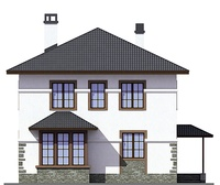 Проект кирпичного дома 72-76 фасад
