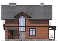 Проект кирпичного дома 72-77 фасад