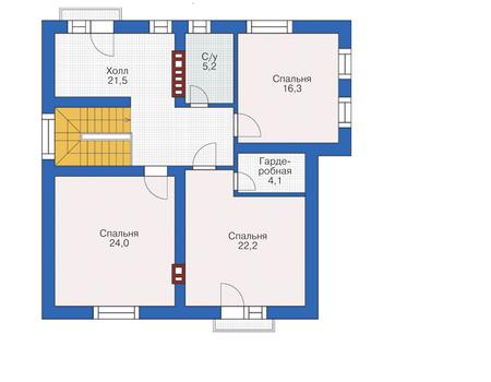 Проект кирпичного дома 72-77 план