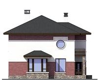 Проект кирпичного дома 72-78 фасад