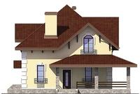Проект кирпичного дома 72-79 фасад