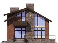Проект кирпичного дома 72-80 фасад