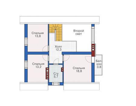 Проект кирпичного дома 72-80 план