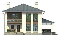 Проект кирпичного дома 72-81 фасад