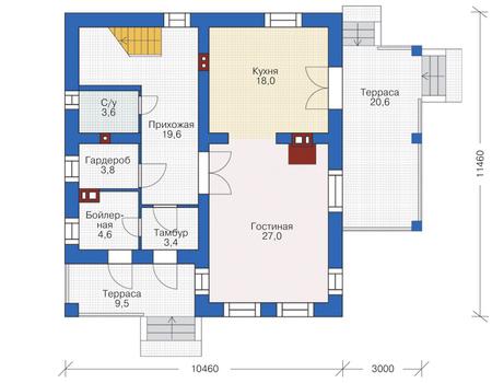 Проект кирпичного дома 72-81 план