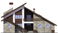 Проект кирпичного дома 72-82 фасад