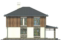 Проект кирпичного дома 72-83 фасад