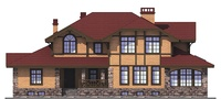 Проект кирпичного дома 72-84 фасад