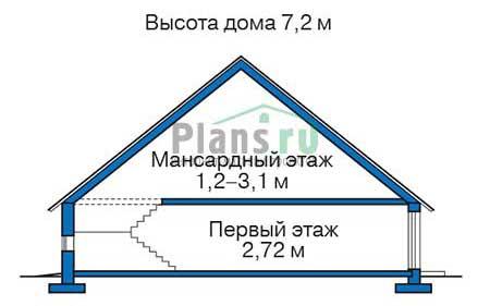 Проект кирпичного дома 72-85 план